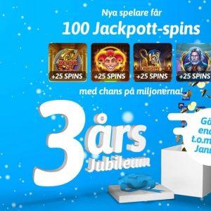 100 jackpott spins hos Snabbare